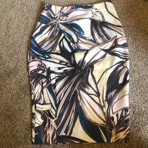 H&M Abstract Floral Pencil Skirt